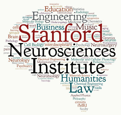 Word Cloud, Stanford Neurosciences Institute